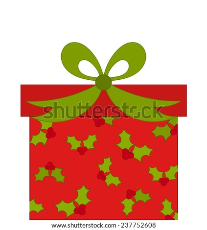 Christmas present vector - stock vector