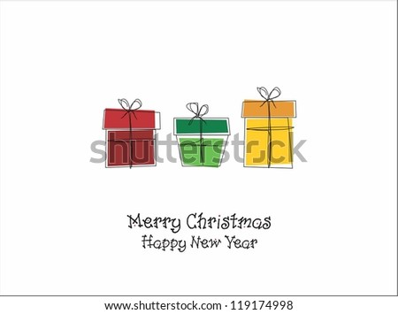 Christmas presents - stock vector