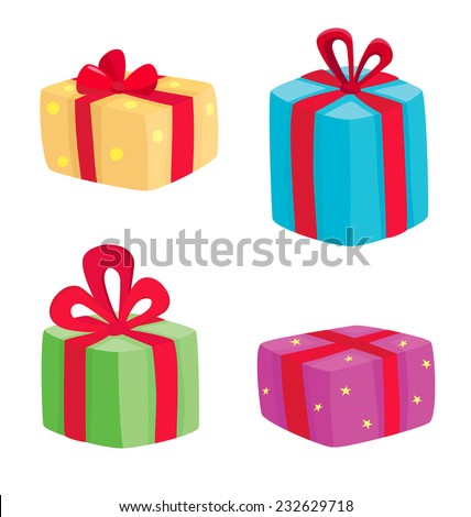 Big presents collection vector illustration cartoon stock vector vector illustration of cartoon gifts isolated on white negle Gallery