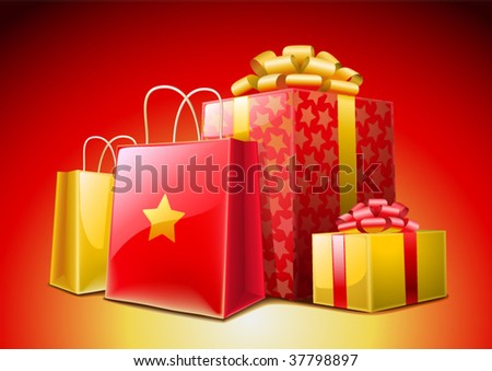 Christmas Presents (vector) - stock vector