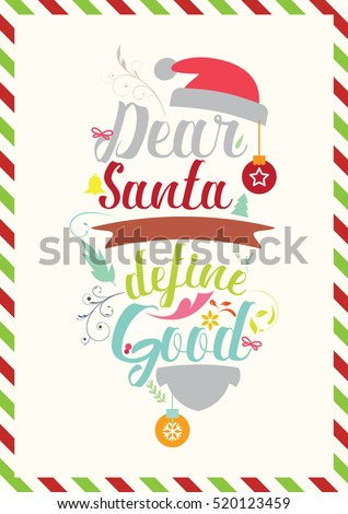 christmas quote dear santa define good humor quote for christmas cards posters - Define Christmas