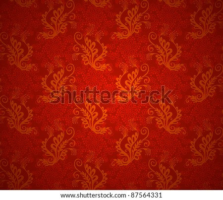 Christmas red background texture. Xmas wallpaper design - stock vector