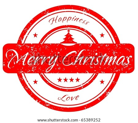 Christmas red stamp VECTOR