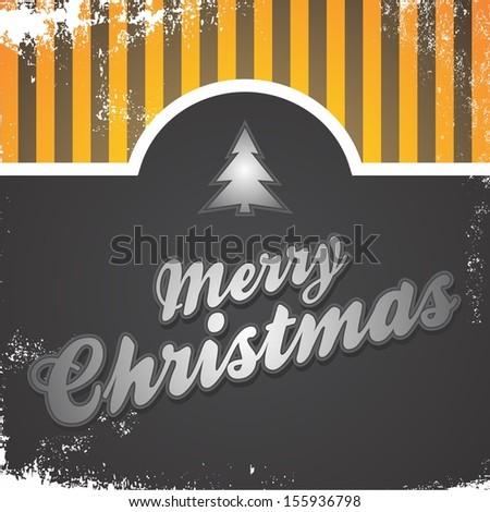 christmas retro greeting - stock vector