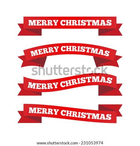 Christmas ribbons - stock vector