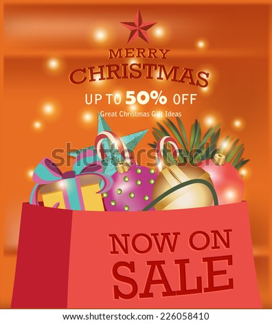 Christmas Sale - stock vector