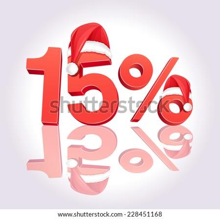 Christmas Sale - 15% - stock vector