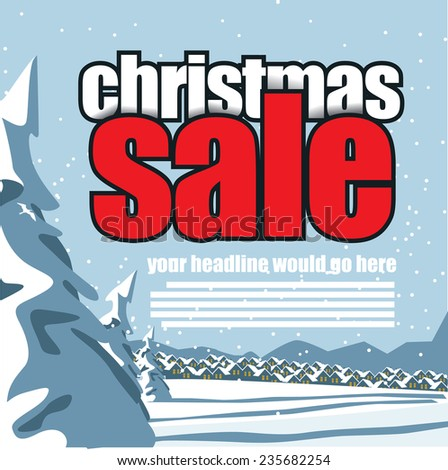 Christmas sale background EPS 10 vector stock illustration - stock vector
