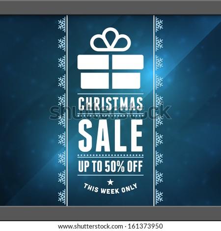 Christmas sale background. Vector illustration Eps 10.  - stock vector