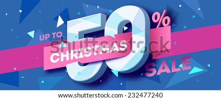 Christmas sale banner. Vector - stock vector