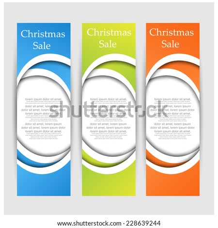 Christmas sale banners. vector - stock vector