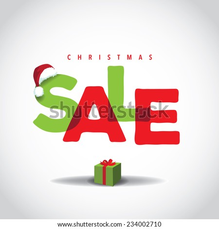 Christmas sale big bright overlapping design  EPS 10 vector stock illustration - stock vector