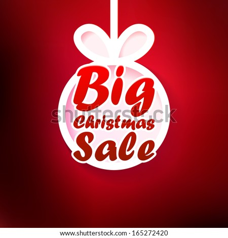 Christmas Sale card. + EPS10 vector file - stock vector