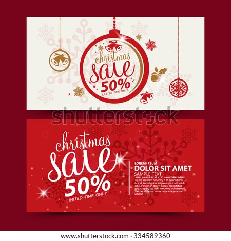 Christmas sale design template - stock vector