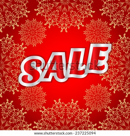 Christmas sale message  - stock vector