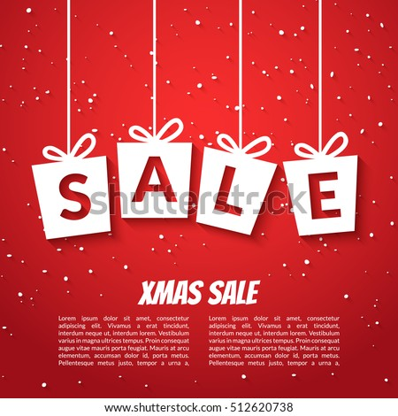 Christmas Sale Poster Template. Xmas Sale Background. Winter Holiday  Discount Offer Clearance Blue Template  For Sale Poster Template