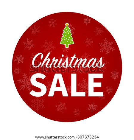 Christmas sale promotion hanging display poster / sticker - stock vector