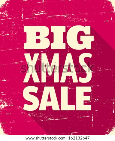 Christmas sale retro poster design.