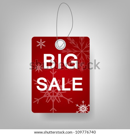 Christmas Sale stickers vector illustration - stock vector
