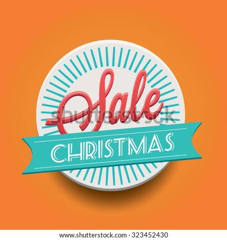 Christmas Sale Tag - stock vector