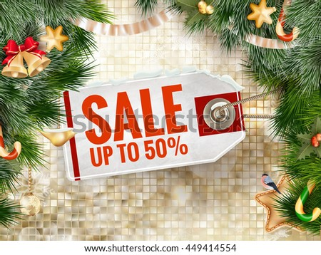 Christmas Sale Tag. EPS 10 vector file included - stock vector