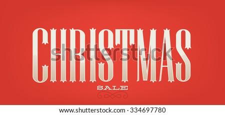 Christmas sale Typographic Banner - stock vector