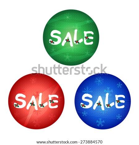 Christmas Sale -Vector illustration of Christmas sale with snowflake   - stock vector