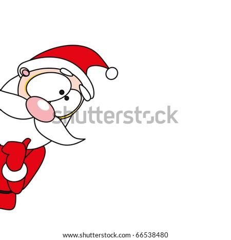 christmas santa - stock vector