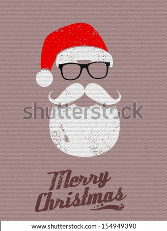 Christmas Santa background - stock vector