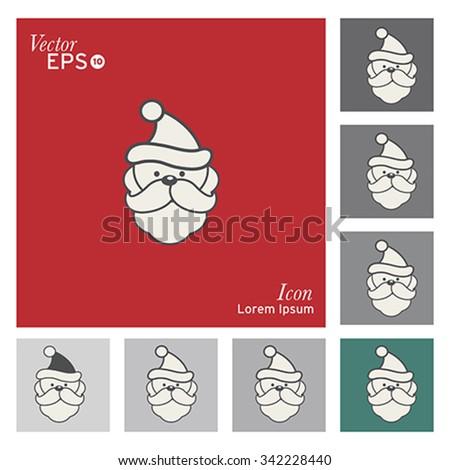 Christmas santa claus icon - vector, illustration. - stock vector