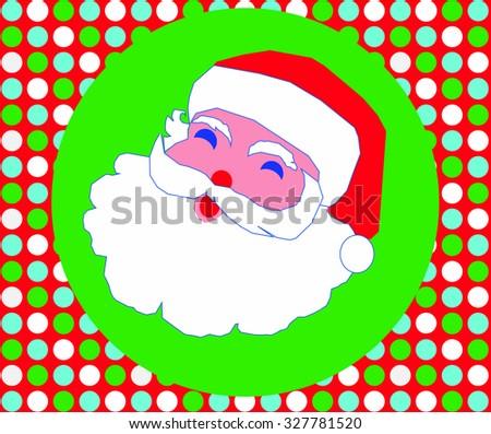 Christmas Santa Clause jolly seamless wallpaper card vector graphics  - stock vector