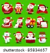 christmas,santa clause,xmas icon set - stock vector