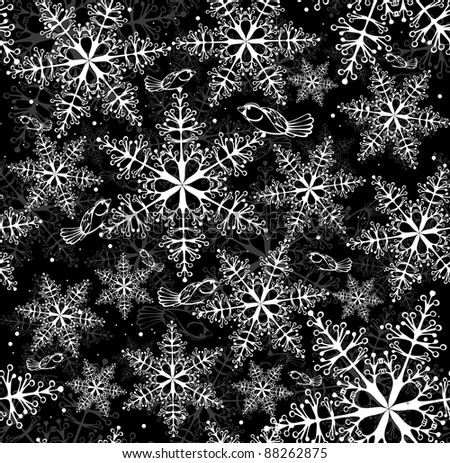 christmas seamless background - stock vector