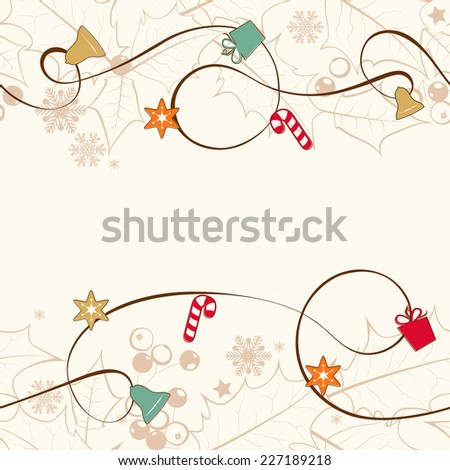 Christmas seamless background. Vector  EPS 10. - stock vector