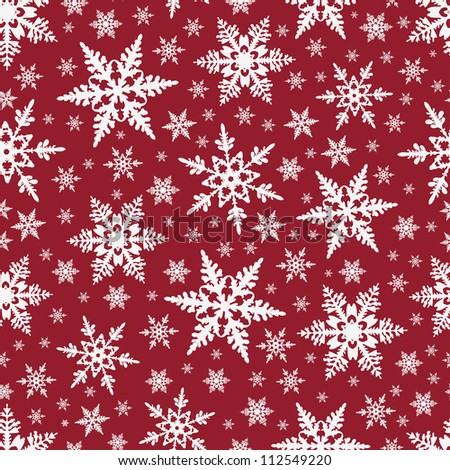 Christmas seamless background with snowflakes - stock vector