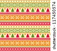 Christmas seamless pattern fair isle style - stock vector