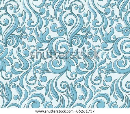 Christmas seamless pattern stylized like frost on window