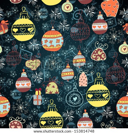 Christmas Seamless Pattern. Vector illustration. - stock vector