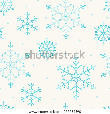 Christmas seamless pattern with snowflakes. Perfect for wallpapers, pattern fills, web page backgrounds, surface textures, textile  - stock vector