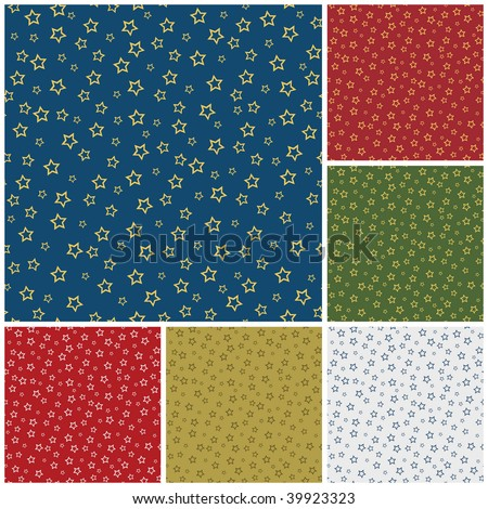 Christmas Seamless Pattern with Stars
