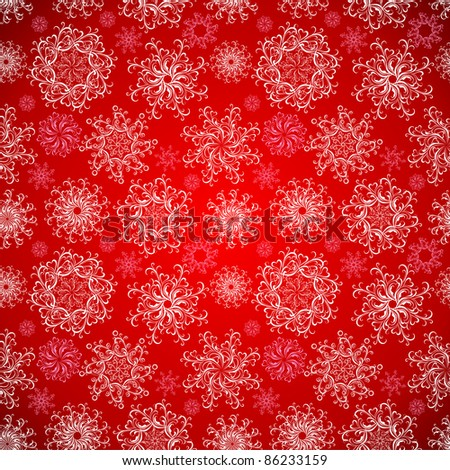 Christmas Seamless  snowflakes background. Vector illustration - stock vector