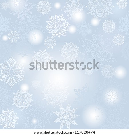 Christmas seamless vector background. New Year pattern. - stock vector