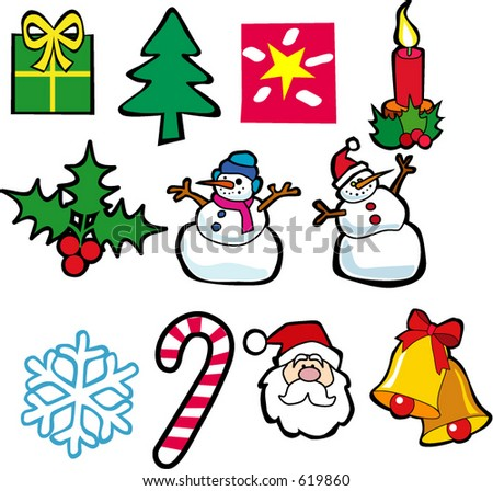 Christmas sesson icon illustrations - stock vector