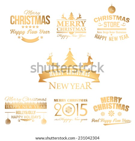 Christmas Shine Badge, Banners, Cards Vector Design  - stock vector