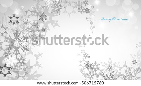 Christmas silver background with snowflakes and decent blue Merry Christmas text - horizontal version. Christmas. Christmas. Christmas. Christmas. Christmas. Christmas. Christmas. Christmas.Christmas.