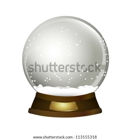 christmas snow globe over white background. vector illustration