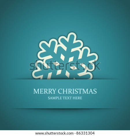 Christmas snowflake applique vector background. Eps 10. - stock vector