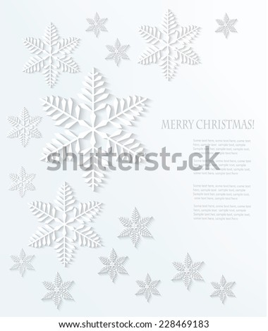 Christmas snowflake background. Vector.