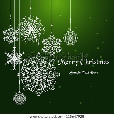 Christmas snowflake / Christmas card with snowflakes - stock vector