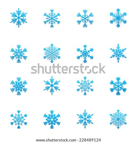 Christmas snowflakes icon - stock vector